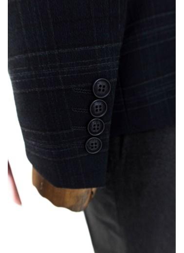 Wessi Ekose Desen Yelekli Takım Elbise Kombini Siyah